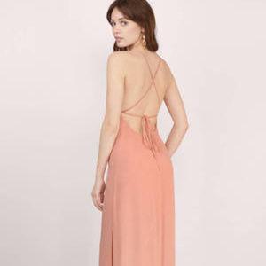 Tobi Lily Rust Maxi Dress